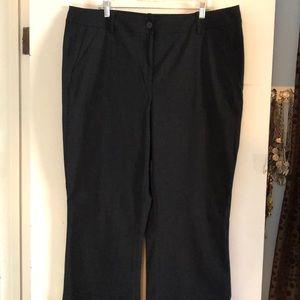Lane Bryant black bootcut dress pants